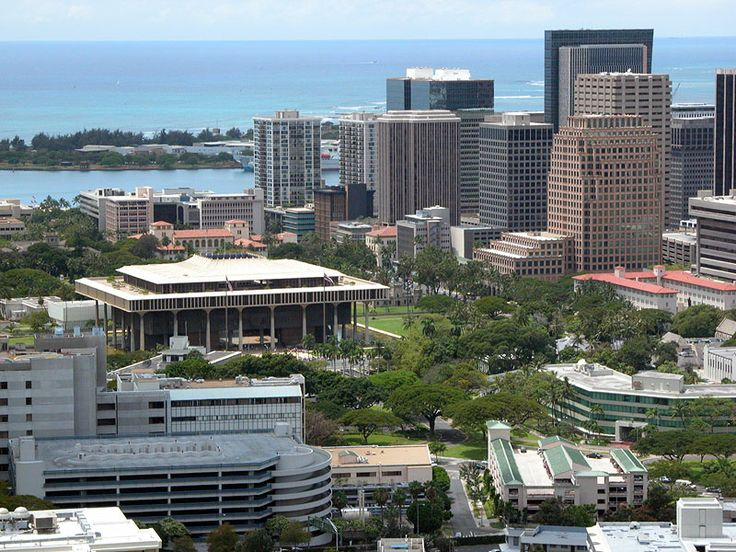 The hawaii state capitol building in downtown honolulu for Hawaii home building packages