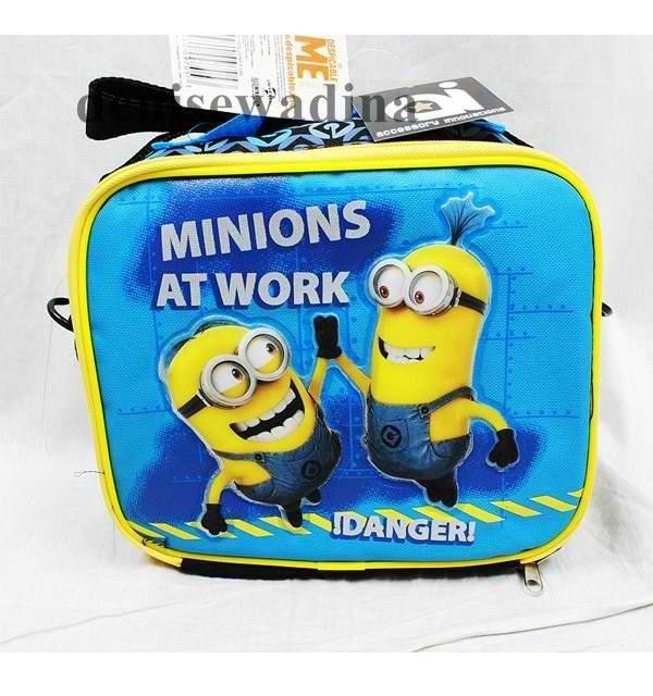 blue yellow despicable me minions  lunch box food bag school boys brand new #Disney #Backpack