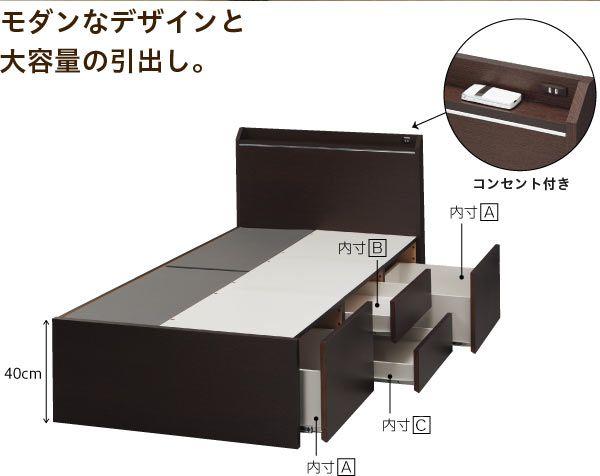 大小の引出しで分類収納可能な棚付きチェスト型フレーム(ベルタ3 チェスト40) | ニトリ公式通販 家具・インテリア・生活雑貨通販のニトリネット