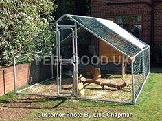 FeelGoodUK Freilaufgehege für Hühner, Kaninchen, Hasen, Meerschweinchen / Hühner Laufstall 4M X 3M X 2M - Für Geflügel, Kaninchen, Hasen, Hühner - Metallstift zum verschließen: Amazon.de: Haustier