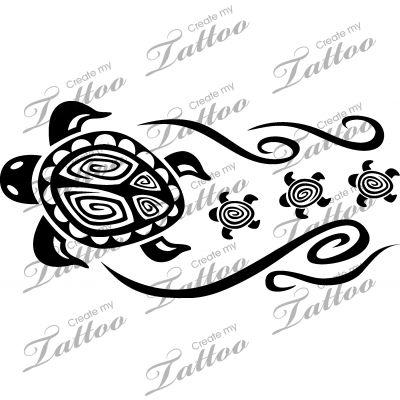 Marketplace Tattoo Tortuga Familia #16085 | CreateMyTattoo.com
