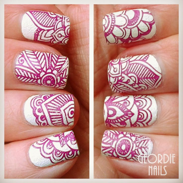 http://geordienails.blogspot.co.uk/2015/01/born-pretty-stamping-plate-l008.html I love Geordies nails here