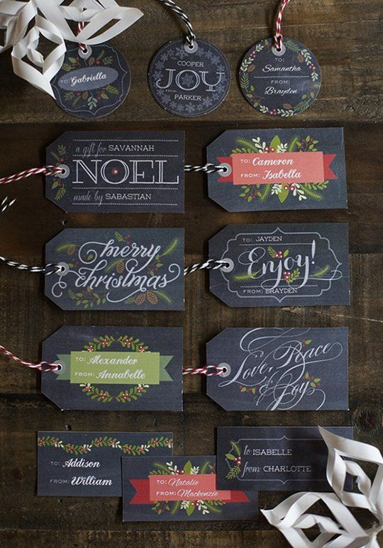 Gift Wrapping Guide: 15 Free Printable Tags | Apartment Therapy