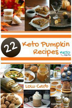 Amazing Keto Pumpkin Recipes - Pumpkin Fat Bombs, Pumpkin Dinners, Pumpkin Desserts and more. Keto pumpkin favorites.