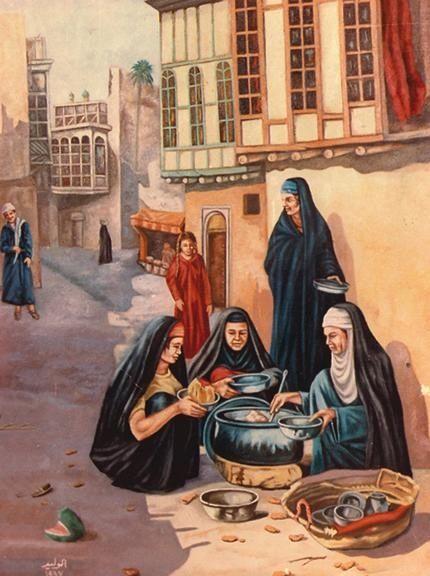 Iraqi art  لوحة من التراث العراقي