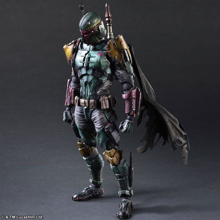 "Spotted by the Boba Fett Fan Club this morning on Instagram, here are newly released promotional photos of the Play Arts Kai (Square Enix) Boba Fett.  It's made of PVC, comes fully painted, and is about 6"" (150mm) wide, 10.25"" (260mm) tall, and has a depth of 3.5"" (90mm). It retails for $100 (12,000 Yen) ..."