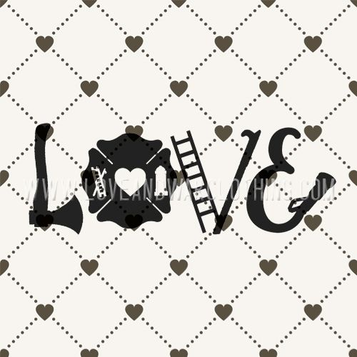 Love Axe Firefighter decal - LOVEANDWARCLOTHING