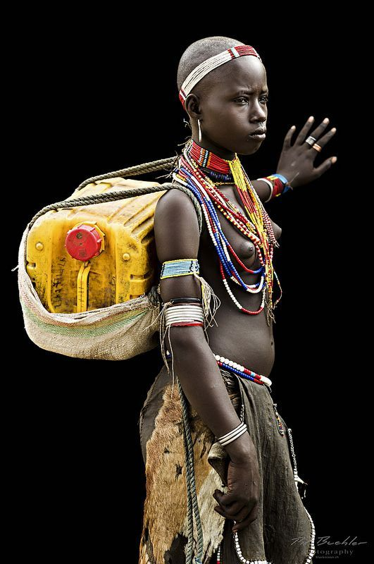 Young Woman from the Arbore Tribe, Omo Valley by Pit Buehler
