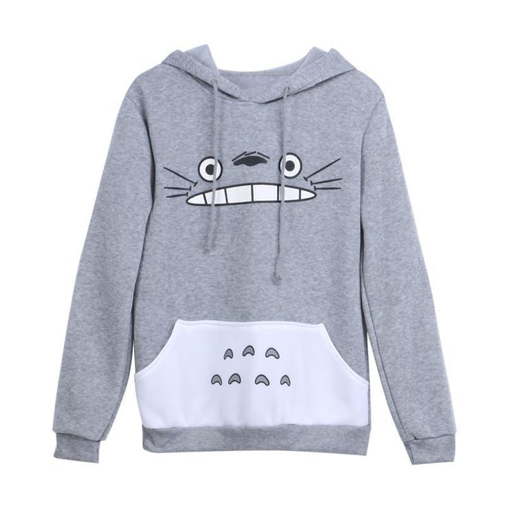 Thick sweatshirt harajuku Hoodies cartoon totoro animal print Women Hoodie Spring/Autumn  clothes