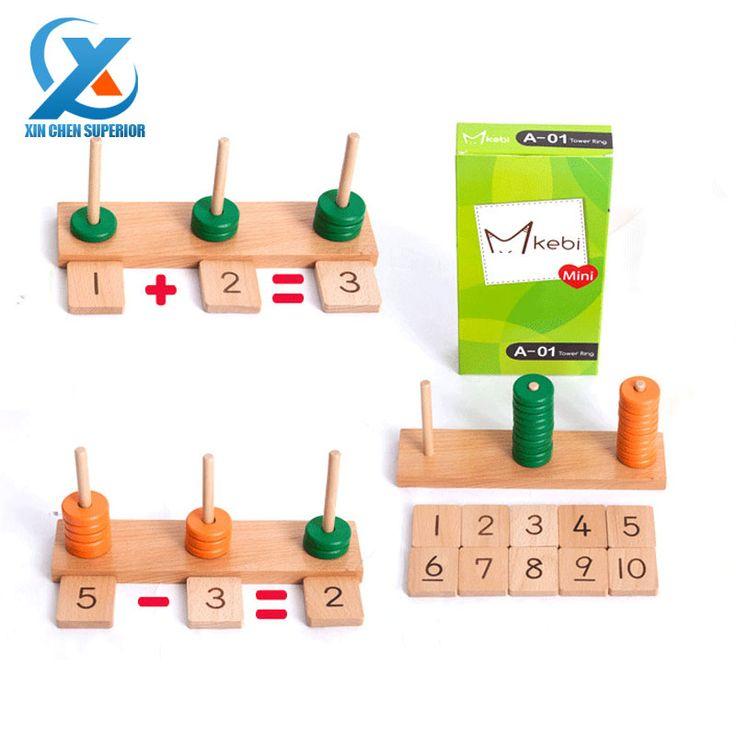 Деревянная мини башня, деревянная пирамида для обучения счету, пирамидка - счет, математическая развивающая игра, арифметическая игрушка, образовательные игрушки для детей, быстрая доставка