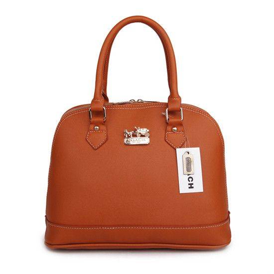 Coach City In Logo Medium Brown Satchels BIB ($390)