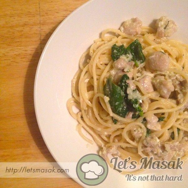 Resipi / resepi / recipe Spaghetti Carbonara
