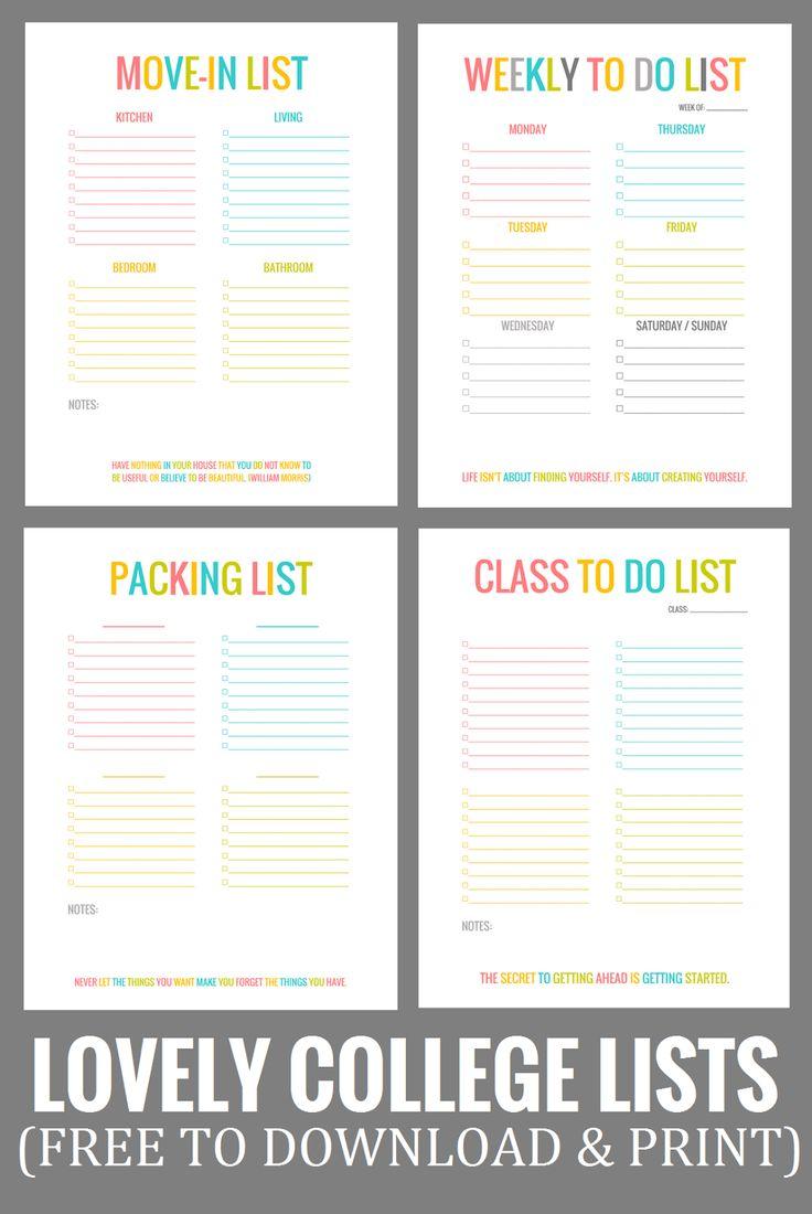 printable moving list