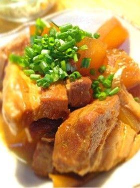 豚バラと冬瓜の味噌煮