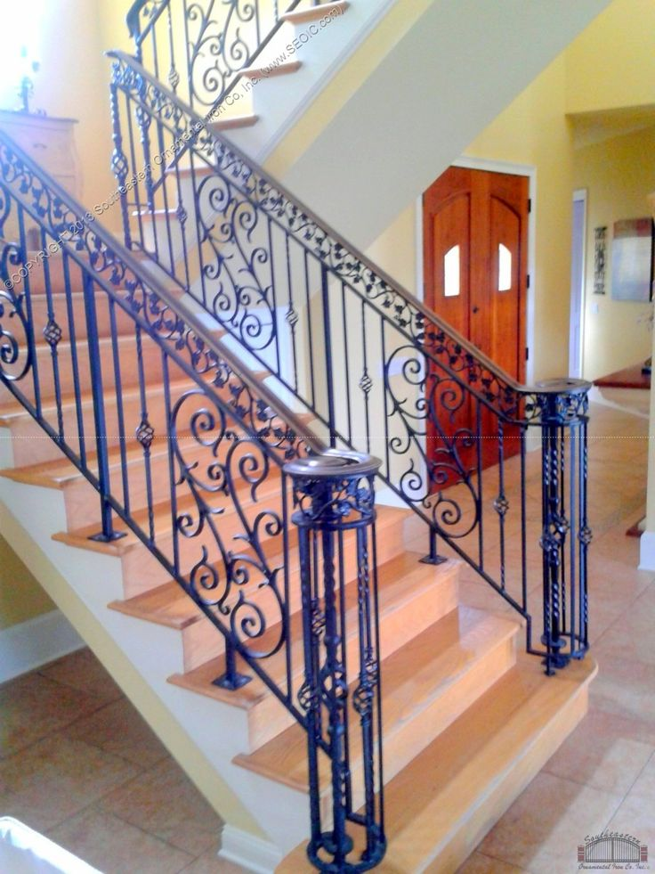 7812 best classic stairs balusters and newels images on - Wrought iron stair railing exterior ...