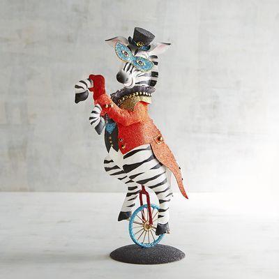 Marquis De Chevron Glittered Zebra Circus Decor