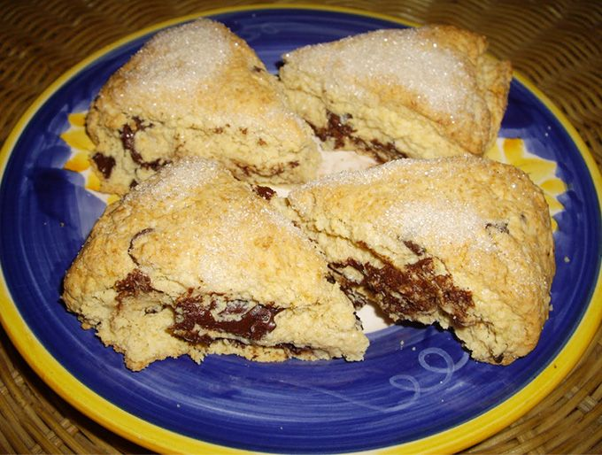 Paleo Chocolate-Hazelnut Marble Cake Scones