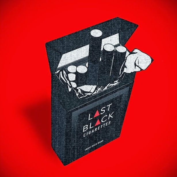 "Logo Banda de Rock Alternativo ""Last Black Cigarettes"""