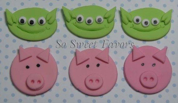 fondant cupcake toppersToys Stories 3, Stories Parties, Fondant Cupcake Toppers, Toppers Toys, Fondant Cupcakes Toppers, Stories Fondant, Edible Cupcakes, Cupcakes Rosa-Choqu, Fondant Edible