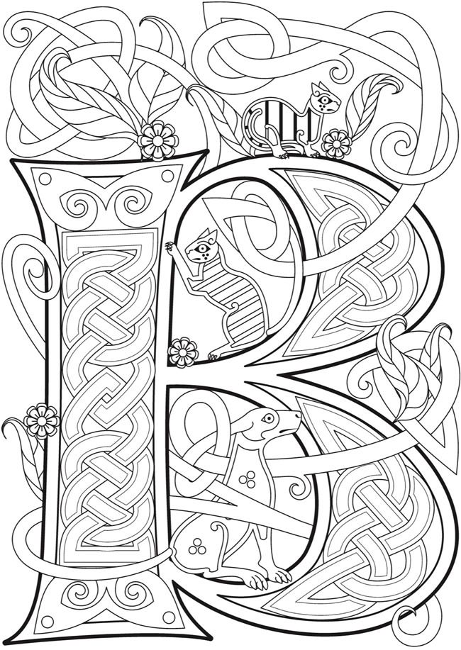Welcome To Dover Publications Ch Celtic Alphabet Celtic Coloring Celtic Alphabet Alphabet Coloring Pages