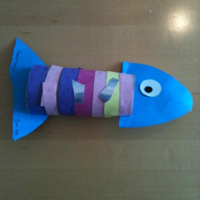 Vis - Maak zijn lijf blauw en zijn vinnen paars en je hebt Winvis!