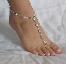 How to make barefoot sandals http://www.ehow.com/how_5983382_make-beaded-foot-jewelry-beach.html and http://www.ehow.com/how_7660695_instructions-beading-barefoot-sandal.html
