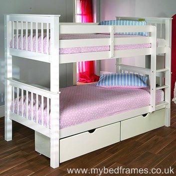 Pavo #bunkbed in white pine - mybedframes.co.uk