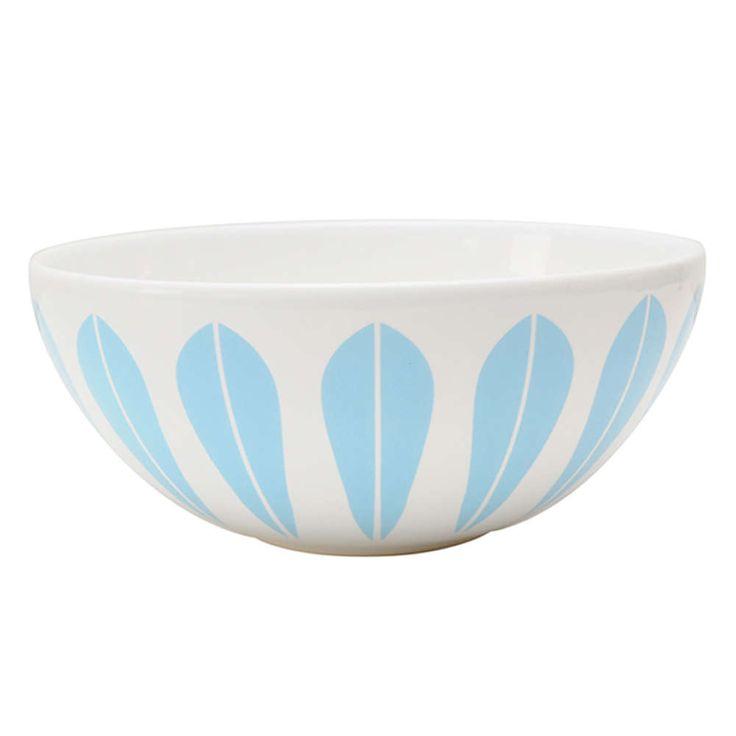 Lucie Kaas Lotus skål hvit/lysblå 24cm