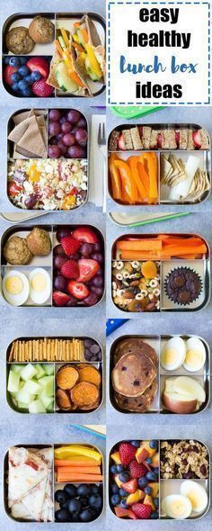 EASY, Healthy Lunch Ideas for Kids! Bento box lunchbox ideas to pack for school, home, or even for yourself for work! Make packing lunches quick and easy! #FoodRecipesForKids