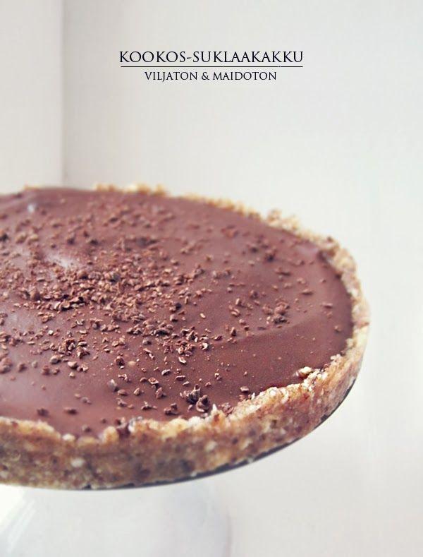 Syötävän hyvä: TAIVAALLINEN VILJATON&MAIDOTON SUKLAAKAKKU