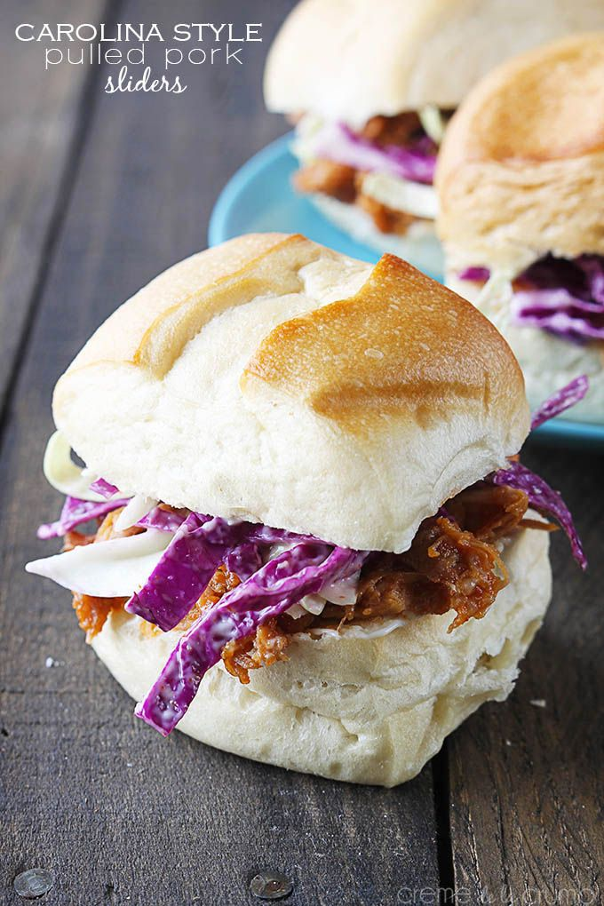 Carolina Style Pulled Pork Sliders | Recipe | Style, Pulled pork ...