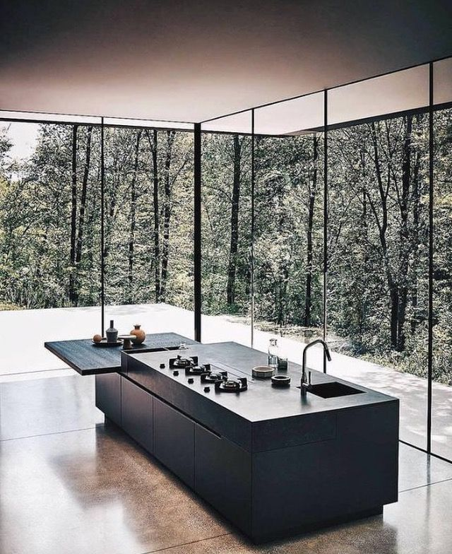 So beautiful! #contemporarydesign #contemporary #kitchendesign
