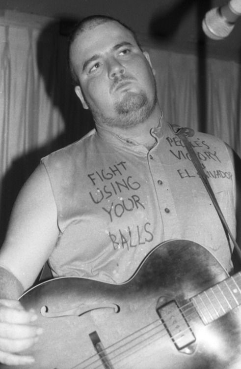 Minutemen: D.Boon, photo by Bev Davies, early 1980s via