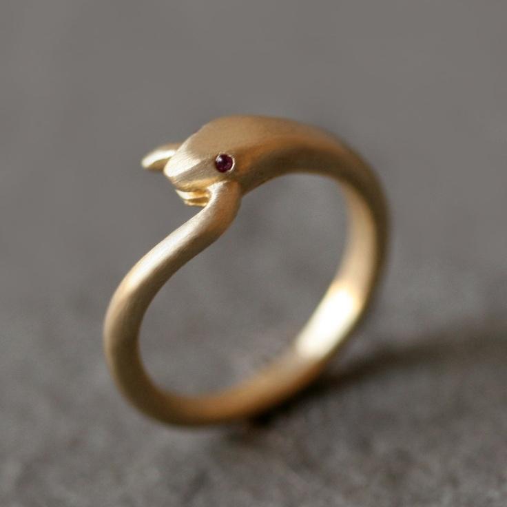 Fab.com | Ruby Snake Ring
