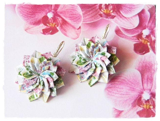 ručne robené origami šperky, handmade earrings, origami earrings, handmade jewelry, origami jewelry, romantik jewelry