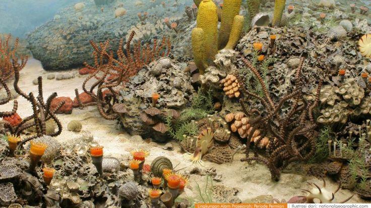 wacananusantara.org   Lingkungan Alam Prasejarah; Periode Permian