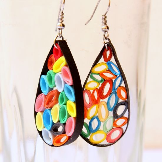 Make funky earrings - Follow @Guidecentral for #crafts and #DIY projects