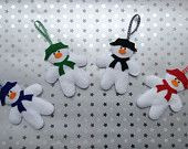 Felt Snowman Hanging Decoration - pinned by pin4etsy.com