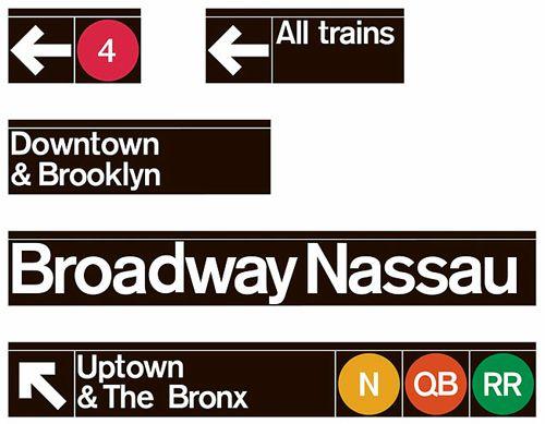 New York transit authority / Subway signage / 1966