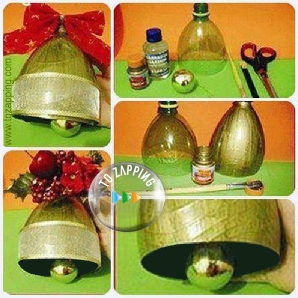 Decoracion Reciclada Navide?a ~ Campanas con Botellas Recicladas Las campanas, decoraci?n importante
