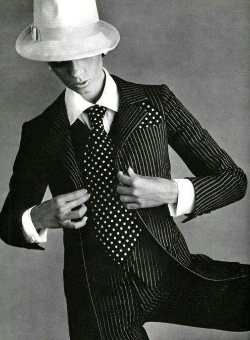 black & white & dots yves saint laurent, 1967