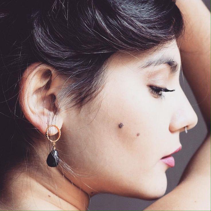 simple black earrings #lifelikes #earrings #fashion #style #chic #sexy #romantic