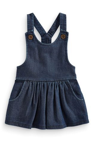 Jersey Denim Pinafore (3mths-6yrs) from Next