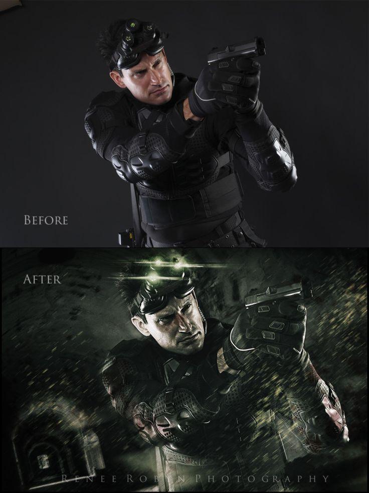|Tutorial Photoshop|#1|Background Splinter Cell:Blacklist ...
