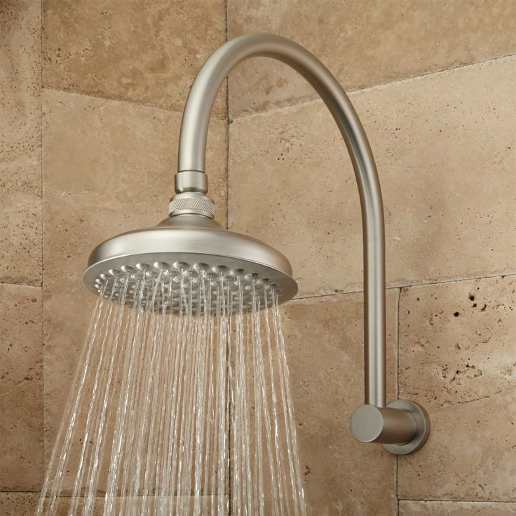 Roux Rainfall Shower Head with Modern Arm In Brushed Nickel | Signature Hardware