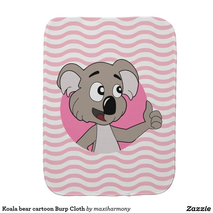 Koala bear cartoon Burp Cloth