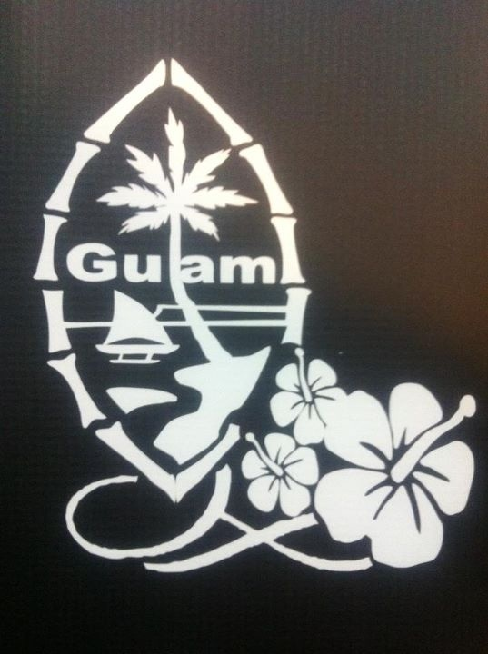 Guam Seal with Hibiscus Decal    www.mangofix.com