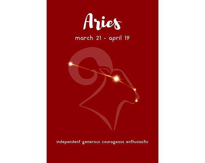 Aries zodiaco cartel constelación impresión - arte de la pared de la constelación de zodiaco - horoscopo pared arte-Arte del cartel de la astrología - imprimible Arte Digital