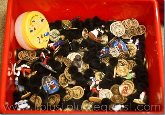 Pirate Sensory Bin: Sensory Activities, Sensory Tubs, Theme Blog, Pirates Sensory, Pirates Parties, Theme Sensory, Preschool Pirates, 1 1 1 1, Pirates Theme