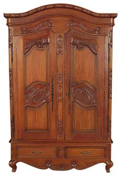 Solid Mahogany French TV Entertainment Armoire traditional-dressers-chests-and-bedroom-armoires